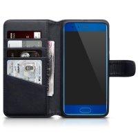 Olixar Genuine Leather Huawei Honor 9 Wallet Case - Black