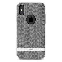 Moshi Vesta iPhone X Textile Pattern Case -  Herringbone Grey