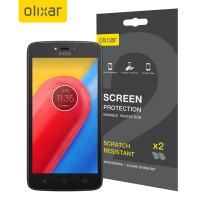 Olixar Motorola Moto C Displayschutz 2-in-1 Pack