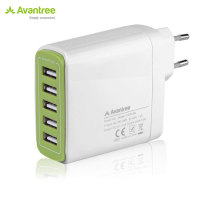 Avantree Power Trek 5 USB Mains Charger - White - EU Mains