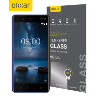 Olixar Nokia 8 Full Cover Tempered Glass Screen Protector - Black