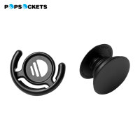 PopSockets Universal Stand & Grip with PopClip Universal Mount - Black