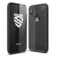 Olixar Sentinel iPhone X Case with Glass Screen Protector