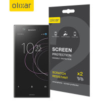 Olixar Sony Xperia XZ1 Compact Screen Protector 2-in-1 Pack