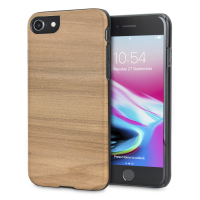 Coque iPhone 8 / 7 Man&Wood Bois - Cappuccino
