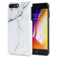 LoveCases Marble iPhone 8 Plus / 7 Plus Case - Classic White