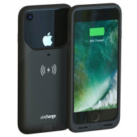super popular 87801 2de39 aircharge MFi Qi iPhone 7 Wireless Charging Case - Black