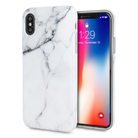 LoveCases Marble iPhone X Case - Classic White