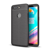 Olixar Attache OnePlus 5T Leather-Style Protective Case - Black