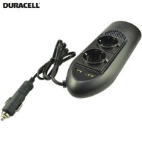 Duracell In-Car EU Mains & USB Charger - Black