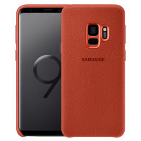 Official Samsung Galaxy S9 Alcantara Cover Deksel - Rød
