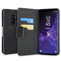 Olixar Leather-Style Samsung Galaxy S9 Plus Wallet Stand Case - Black