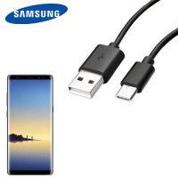Câble de chargement USB-C Officiel Samsung Galaxy Note 8 - Noir