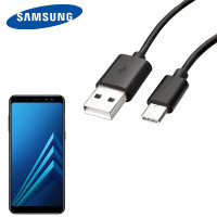 Official Samsung USB-C Galaxy A8 2018 Charging Cable - Black