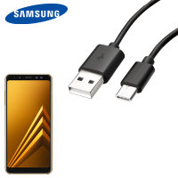 Official Samsung USB-C Galaxy A8 Plus 2018 Charging Cable - Black