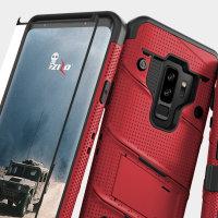 Zizo Bolt Series Samsung Galaxy S9 Plus Stoere Case & Riemclip - Rood