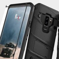 Zizo Bolt Series Samsung Galaxy S9 Plus Stoere Case & Riemclip - Zwart