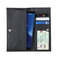 Olixar Primo Genuine Leather Alcatel 3X Pouch Wallet Case - Black