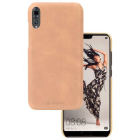 Krusell Sunne Huawei P20 Pro Slim Leather Cover Case - Nude