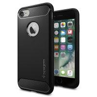 Spigen Rugged Armor iPhone 7 Case - Zwart