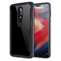Encase OnePlus 6 Flexible Bumper Case - Black / Clear