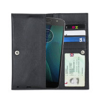 Olixar Primo Genuine Leather Motorola Moto G5S Plus Case - Black