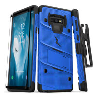 Zizo Bolt Samsung Galaxy Note 9 Tough Case & Screen Protector - Blue