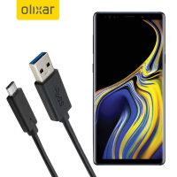 Olixar USB-C Samsung Galaxy Note 9 Charging Cable - Black 1m