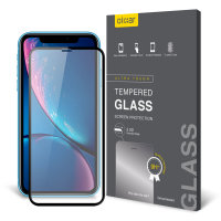 Olixar iPhone XR Full Cover Glass Screen Protector - Black
