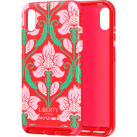 Tech21 Evo Luxe Liberty London iPhone XR Case - Azelia Red