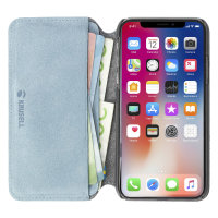 Krusell Broby 4 Card iPhone XS Max Slim Wallet Case - Blue