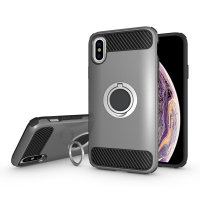 Olixar ArmaRing iPhone XS Case - Zilver