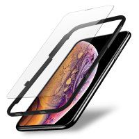 Olixar iPhone XS EasyFit Case Friendly Tempered Glass Screen Protector