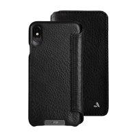 Vaja Wallet Agenda iPhone XS Max Premium Leather Case - Black