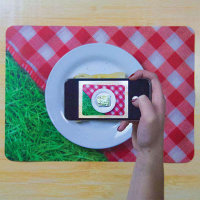 Quirky Photo Prop Place Maps - Brighten up your dinner times