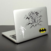 DC Comics Gadget Decals - 10 Vinyl Laptop Stickers inc Batman Superman