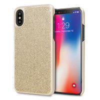 LoveCases Luxus Kristall iPhone XS Hülle - Gold