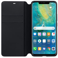 Official Huawei Mate 20 Pro Wallet Cover Case - Black