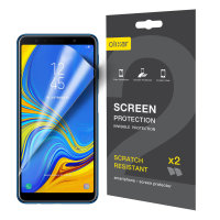 Olixar Samsung Galaxy A7 (2018) Film Screen Protector 2-in-1 Pack