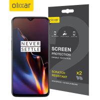 Olixar OnePlus 6T Film Schermbeschermer - 2 Eenheden