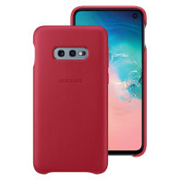 Official Samsung Galaxy S10e Genuine Leather Cover Case - Red