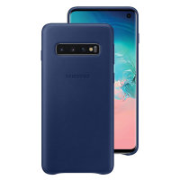Official Samsung Galaxy S10 Leather Cover Case - Navy