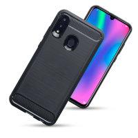 Olixar Huawei P Smart 2019 Carbon Fibre Protective Case - Black