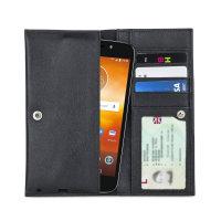 Olixar Primo Motorola Moto E5 Play Echtleder Geldbörse - Schwarz