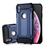 Olixar iPhone Delta Armour Protective XS / X Case - Slate Blue