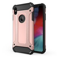Olixar Delta Armour Protective iPhone XS Max Case - Rose Gold