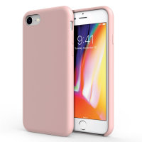 Olixar iPhone 8 / 7 Soft Silicone Case - Pastel Pink