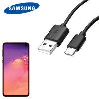 Câble USB-C Officiel Samsung Galaxy S10e – Câble de chargement – Noir