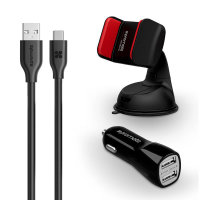 Promate Ultra-Fast Charging Car Kit For USB-C Devices