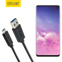 Olixar USB-C Samsung Galaxy S10 Charging Cable - Black 1m